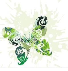 green beautiful butterfly vector image