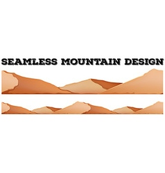 Seamless brown mountain range vector