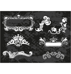 Decorative borders and frames vector