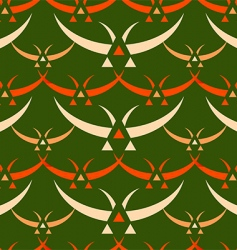 Japanese birds pattern vector