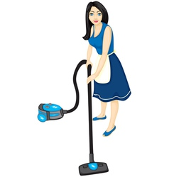 housemaid vector image