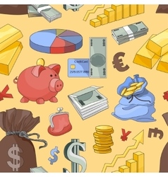 Finance and currency pattern vector
