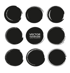 Abstract black round backgrounds from thick black vector
