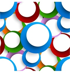Abstract seamless backgorund with circles vector