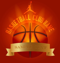 Basketball club generic set vector image vector image