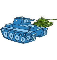 Cartoon tank isolated vector