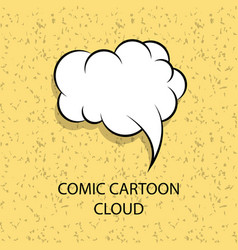 Comic cartoon empty speech bubble vector