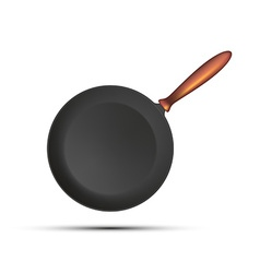 Frying pan isolated on white background vector