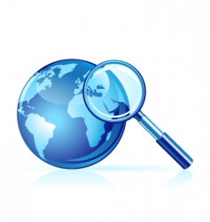 global search icon vector image vector image