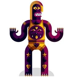 Graphic of weird beast anthropomorphic char vector