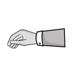 grayscale businessman hand with fingers and palm vector image vector image