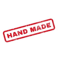 Hand made text rubber stamp vector