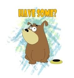 Happy Fat Dog Cartoon vector image