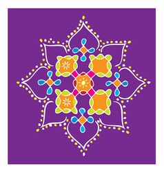 Indian Kolam vector image vector image