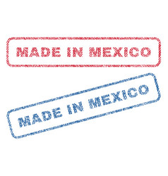 Made in mexico textile stamps vector