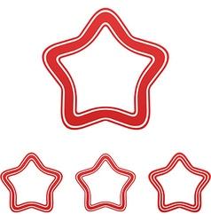 Red line star logo design set vector