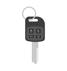Security car key with remote control cartoon flat vector image vector image