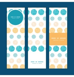 texture circles stripes abstract vertical banners vector image vector image