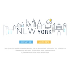 Website banner and landing page new york vector