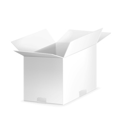White open carton box vector
