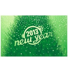 New year holiday inscription in retro style vector