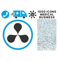 Map pointers icon with 1000 medical business vector