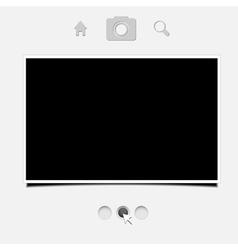 web portfolio for your design Eps10 vector image