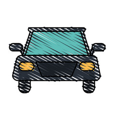 Color crayon stripe image front view automobile vector