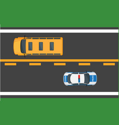 city traffic concept with cars on highway vector image