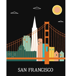 San francisco california vector