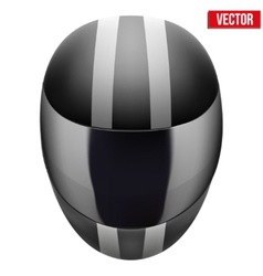 Black motorcycle helmet with strip vector