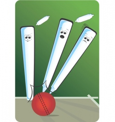 Cricket cartoon vector