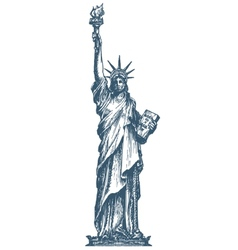 Usa logo design template united states or statue vector