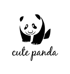 cute panda vector image