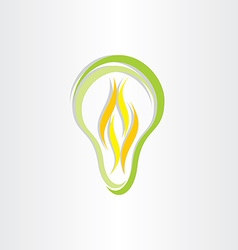 Green eco low energy bulb icon vector