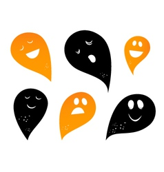 Ghost silhouettes vector
