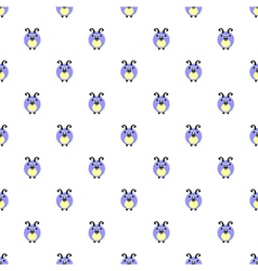 Pattern with cute blue comic sheeps vector