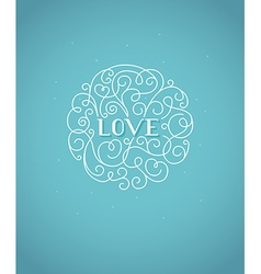 Valentines day greeting card design template with vector