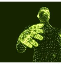Man 3D Model of Man Human Body Model vector image