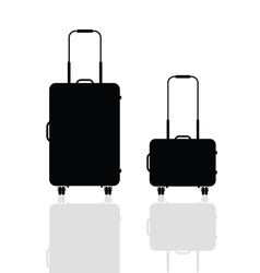 Travel bag silhouette vector