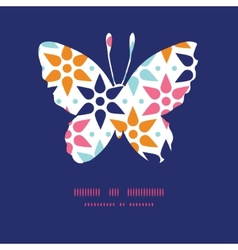 Abstract colorful stars butterfly vector