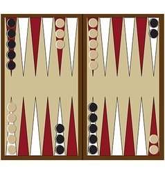 Backgammon game vector