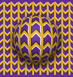 Ball rolls along surface abstract optical vector