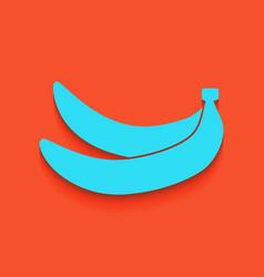 Banana simple sign whitish icon on brick vector