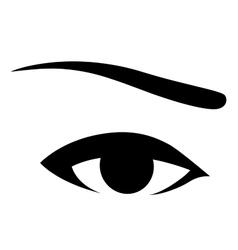 Black human eye vector