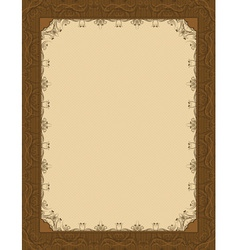 Brown background with decorative ornate vector