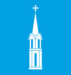 church icon white vector image vector image