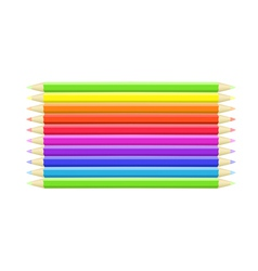 Colorful background different crayons vector image vector image