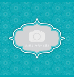 Decorative background with frame for photo 0803 vector