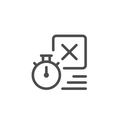 Delivery time line icon vector